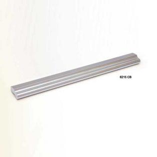 Tirador de aluminio perfil 150 x 15 mm.