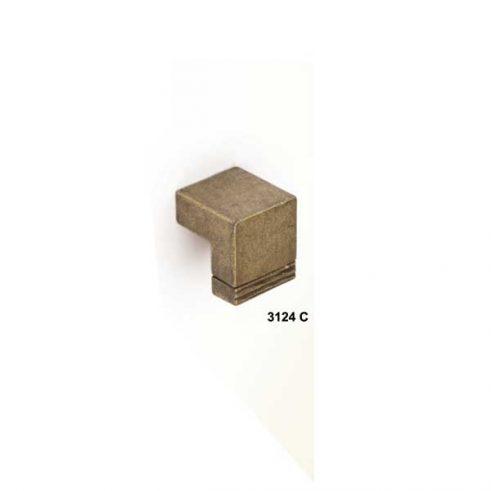 Pomo Ángulo con Remate, 22 x 20 mm.