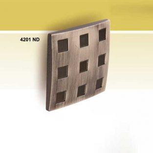 Pomo Convexo Sin Cristales, 60 x 60 mm.