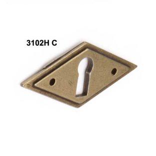 Tirador Rombo- H- con Bocallave, 60 mm x 25 mm.