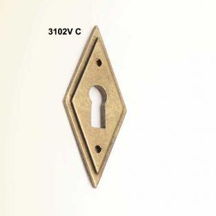 Tirador Rombo V- con Bocallave, 25 mm x 60 mm.