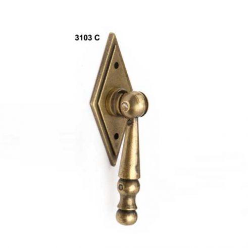Tirador Rombo Pendulo 25 mm x 60 mm.