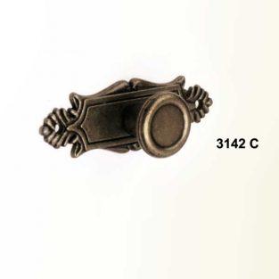 Tirador Escudo con Pomo, 20 mm x 60 mm.