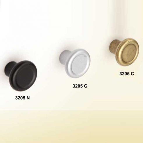 Pomo Redondo de 18 mm diametro.